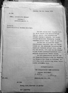 Ein Schreiben des »Evangelischen Gemeindevereins München Nord-West« vom 25. Januar 1930, das die Gründung der späteren Kreuzkirchengemeinde vorantreibt, trägt die Unterschrift Albert Lempps (Landeskirchliches Archiv Nürnberg).