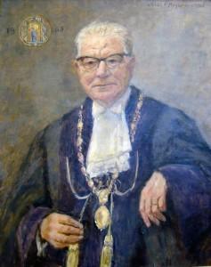 Hermann Diem (1900-1975) als Rektor der Universität Tübingen 1964/65.