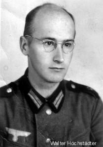 Von der Osterdenkschrift inspiriert: Walter Höchstädter als Soldat im Zweiten Weltkrieg. Foto aus Familienbesitz.
